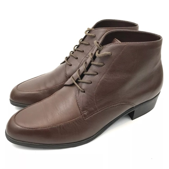 733be676055 Partners VTG 90s Women s Leather Ankle Boots Brown.  M 5b203e0e2e1478a2cac14a95. Other Shoes ...